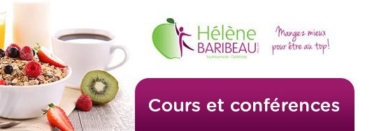 Nutritionniste Hélène Baribeau: Cours et conférences